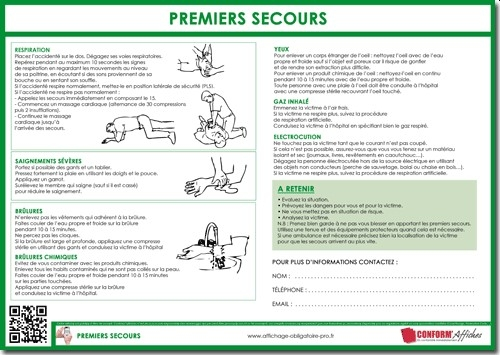affichage obligatoire legislation actualites With photo de plan de maison 15 premiers secours
